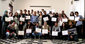 Workshop participants in Morocco.